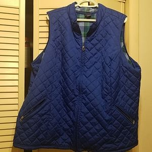 3XL Basic Editions Royal Blue Quilted Vest